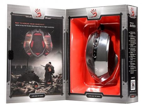 Мишка A4Tech V8M Bloody чорна USB V-Track - купить в интернет-магазине Анклав