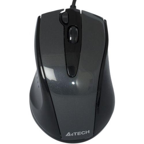 Миша A4Tech N-500F-1 Glossy Grey USB V-Track - купить в интернет-магазине Анклав