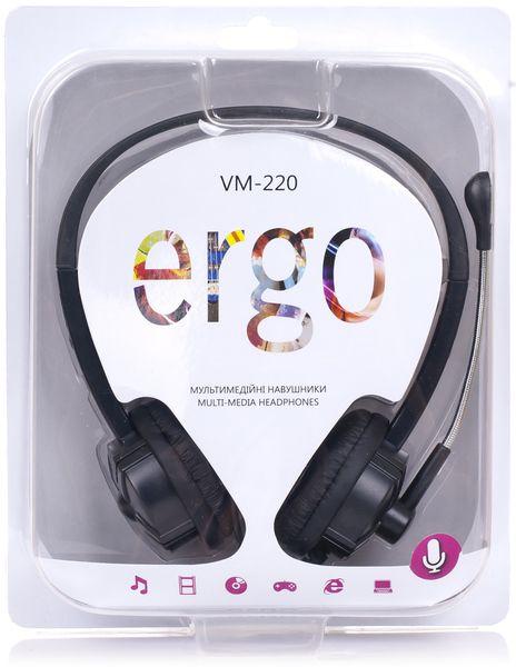 Гарнитура Ergo VM-220 Black (5965708) - купить в интернет-магазине Анклав