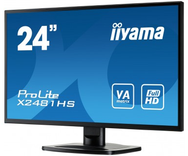 """Iiyama 23.6"""" ProLite X2481HS-B1 VA Black - купить в интернет-магазине Анклав"""