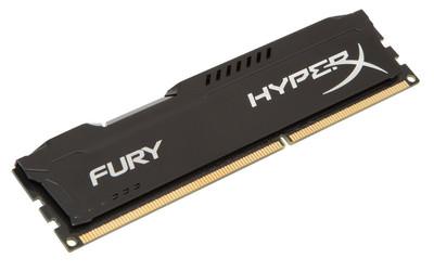 DDR3 8GB/1600 dual voltage 1.35V or 1,5V Kingston HyperX Fury Black (HX316LC10FB/8) - купить в интернет-магазине Анклав