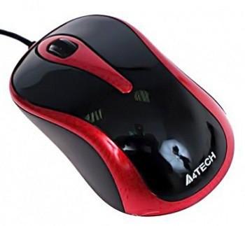 Мышь A4Tech N-350-2 красно-черная USB V-Track - купить в интернет-магазине Анклав