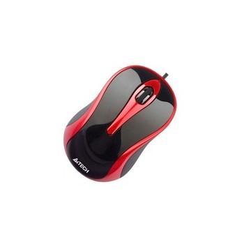 Мишка A4Tech N-350-2 червоно-чорна USB V-Track - купить в интернет-магазине Анклав