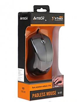 Мишка A4Tech N-400-1 Grey USB V-Track - купить в интернет-магазине Анклав