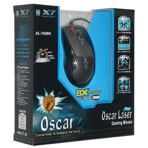 Мышь A4Tech XL-750BK-B Black USB лазерная - купить в интернет-магазине Анклав