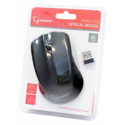 Мышь беспроводная Gembird MUSW-101 черная USB - купить в интернет-магазине Анклав