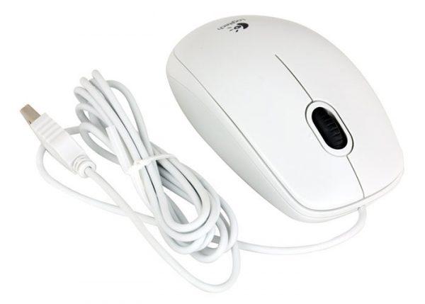 Мишка Logitech B100 (910-003360) White USB - купить в интернет-магазине Анклав