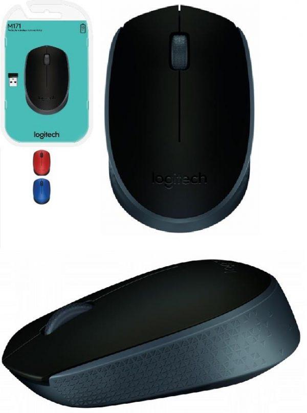 Мишка бездротова Logitech M171 (910-004424) Grey/Black USB - купить в интернет-магазине Анклав