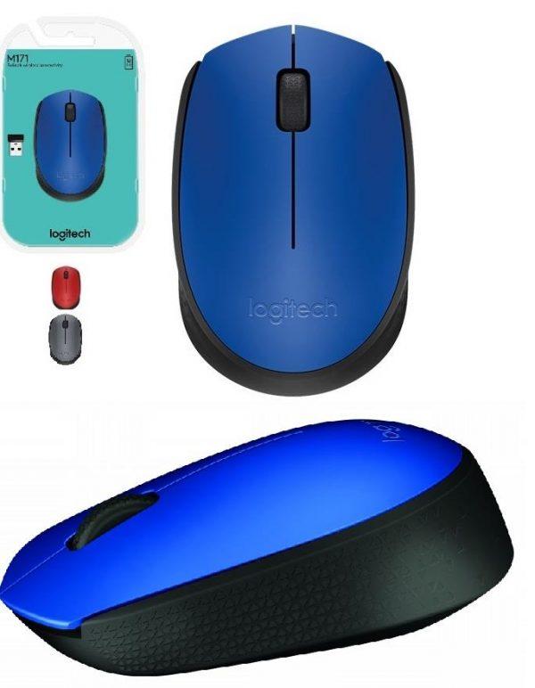 Мишка бездротова Logitech M171 (910-004640) Blue/Black USB - купить в интернет-магазине Анклав