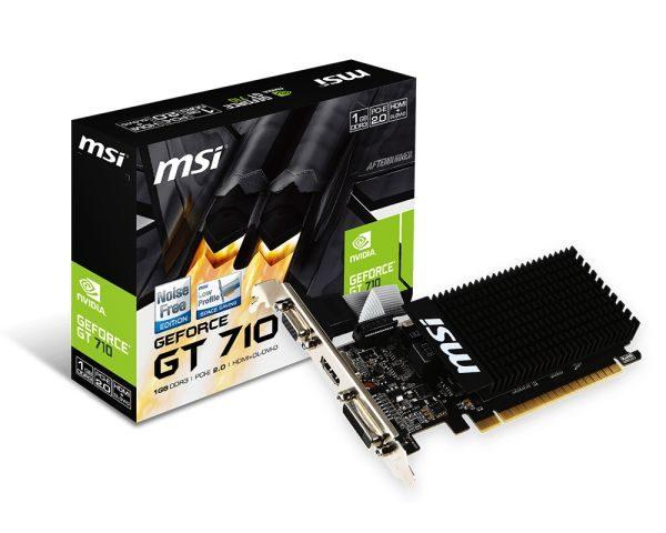Відеокарта GF GT 710 1GB GDDR3 MSI (GT 710 1GD3H LP) - купить в интернет-магазине Анклав