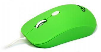 Мышь Gembird MUS-102-G зеленая USB Holeless - купить в интернет-магазине Анклав