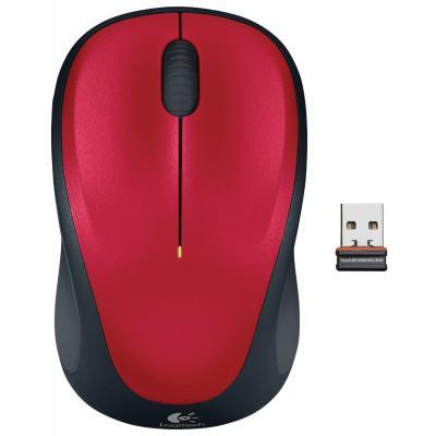 Мишка бездротова Logitech M235 (910-002496) Red USB - купить в интернет-магазине Анклав