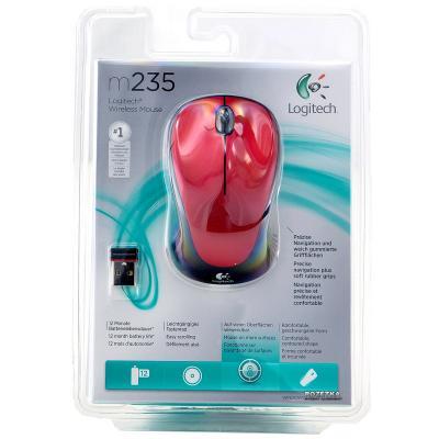 Мышь беспроводная Logitech M235 (910-002496) Red USB - купить в интернет-магазине Анклав