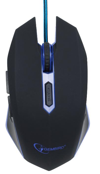Мишка Gembird MUSG-001-B Blue USB - купить в интернет-магазине Анклав