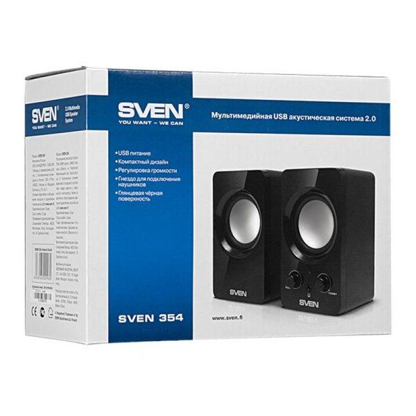 Акустическая система SVEN 354 Black UAH - купить в интернет-магазине Анклав