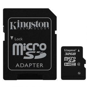 MicroSDHC  32GB Class 4 Kingston + SD-adapter (SDC4/32GB) - купить в интернет-магазине Анклав