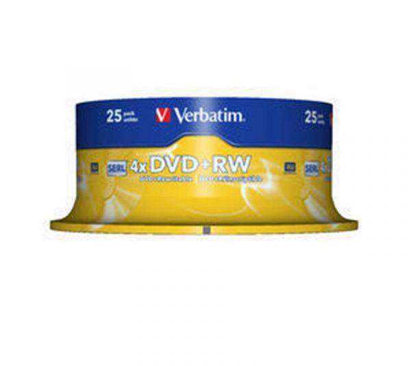 Диски DVD+RW Verbatim (43489) 4.7GB 4x Cake, 25шт Silver - купить в интернет-магазине Анклав