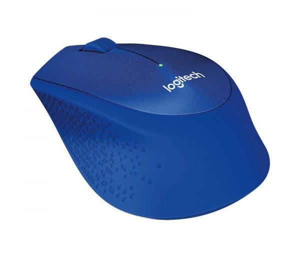Мышь беспроводная Logitech M330 Silent Plus (910-004910) Blue USB - купить в интернет-магазине Анклав