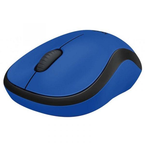 Мишка бездротова Logitech M220 Silent (910-004879) Blue USB - купить в интернет-магазине Анклав