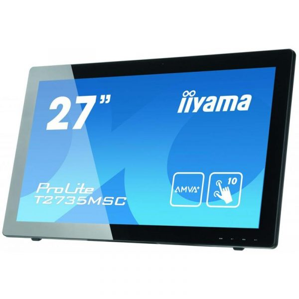 "Iiyama 27"" T2735MSC-B2 AMVA+ Black Multitouch - купить в интернет-магазине Анклав"