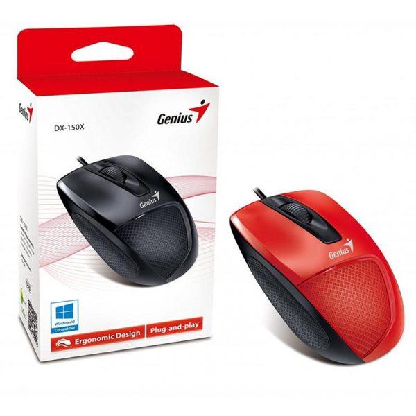 Мишка Genius DX-150X (31010231101) Red/Black USB - купить в интернет-магазине Анклав