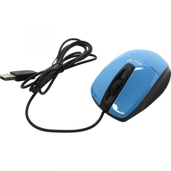 Мишка Genius DX-150X (31010231102) Blue/Black USB - купить в интернет-магазине Анклав
