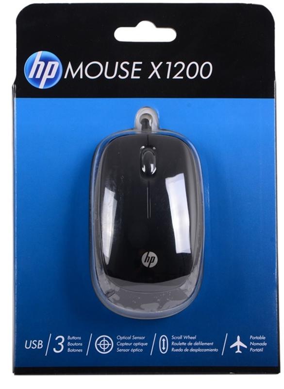 Мышь HP X1200 (H6E99AA) Sparkling Black USB - купить в интернет-магазине Анклав