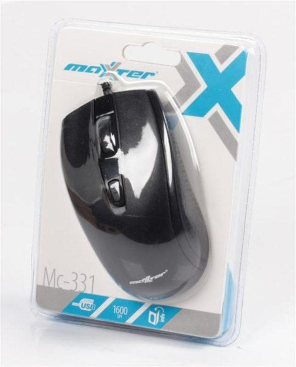 Мишка Maxxter Mc-331 Black USB - купить в интернет-магазине Анклав