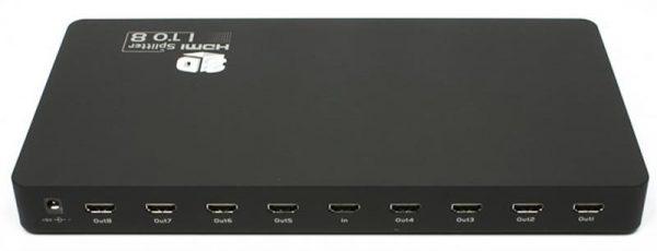 Видеосплиттер Viewcon HDMI Splitter 8 портов, 3D (VE405) - купить в интернет-магазине Анклав