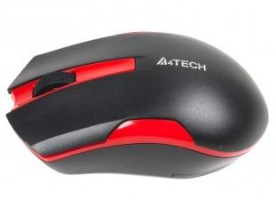 Мышь беспроводная A4Tech G3-200N Black/Red USB V-Track - купить в интернет-магазине Анклав