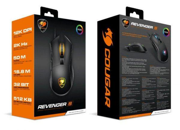 Мышь Cougar Revenger S Black USB - купить в интернет-магазине Анклав