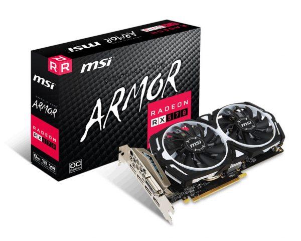 AMD Radeon RX 570 8Gb GDDR5 Armor OC MSI (Radeon RX 570 ARMOR 8G OC) - купить в интернет-магазине Анклав
