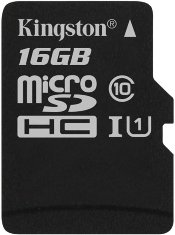 MicroSDHC  16GB UHS-I Class 10 Kingston Canvas Select (SDCS/16GBSP) - купить в интернет-магазине Анклав