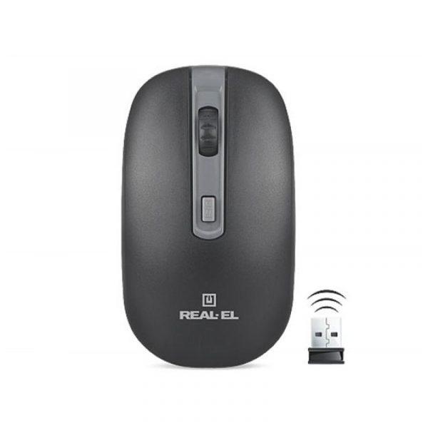 REAL-EL RM-303 Wireless Black/Grey USB UAH - купить в интернет-магазине Анклав