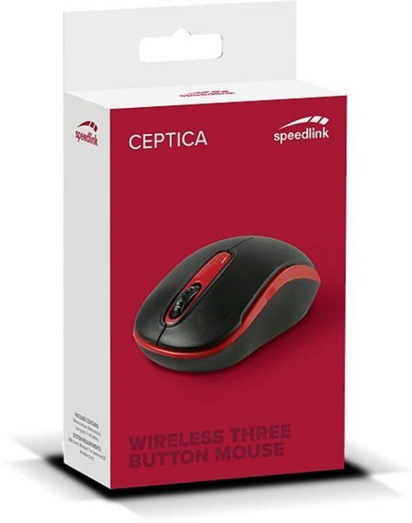 Мышь беспроводная SpeedLink Ceptica (SL-630013-BKRD) Black, Red USB - купить в интернет-магазине Анклав