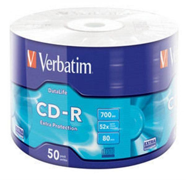 CD-R Verbatim (43787) 700Mb 52x Wrap-box 50 шт Extra - купить в интернет-магазине Анклав