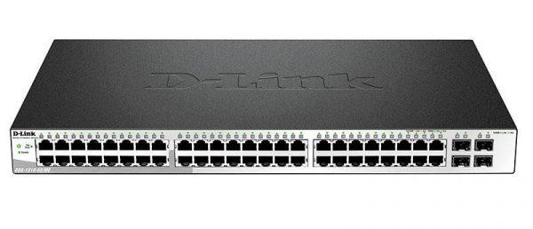 Коммутатор D-Link DGS-1210-52/ME/A1 48port 1GE, 4xSFP/1GE, WebSmart, Metro - купить в интернет-магазине Анклав