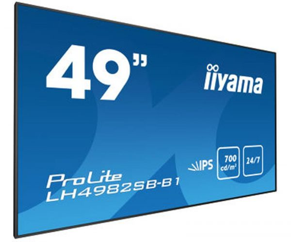 "Монітор Iiyama 48.5"" LH4982SB-B1 IPS Black - купить в интернет-магазине Анклав"