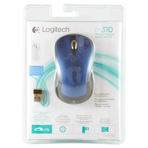 Мишка бездротова Logitech M310 (910-005248) Blue USB - купить в интернет-магазине Анклав