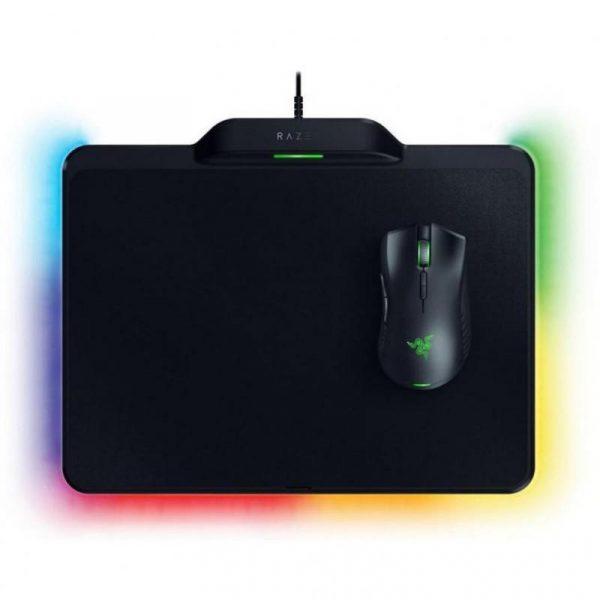 Мишка Razer Mamba HyperFlux (RZ83-02480100-B3M1) Black USB + Ігрова поверхня Razer Firefly HyperFlux Bundle - купить в интернет-магазине Анклав