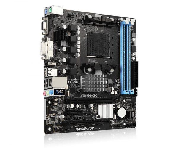 Материнська плата ASRock 760GM-HDV Socket AM3+ - купить в интернет-магазине Анклав