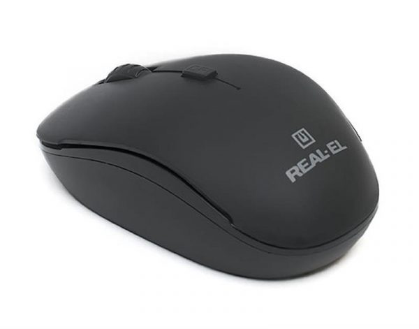 REAL-EL RM-301 Wireless Black USB UAH - купить в интернет-магазине Анклав