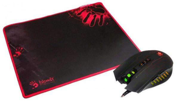 Мышь A4Tech Q81 Bloody Neon XGlide Black USB + коврик - купить в интернет-магазине Анклав