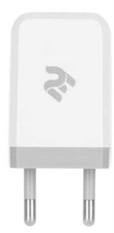 Сетевое зарядное устройство 2E (1USB 2.1A) White (2E-WC1USB2.1A-W) - купить в интернет-магазине Анклав