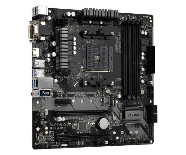 Материнська плата ASRock B450M Pro4 Socket AM4 - купить в интернет-магазине Анклав