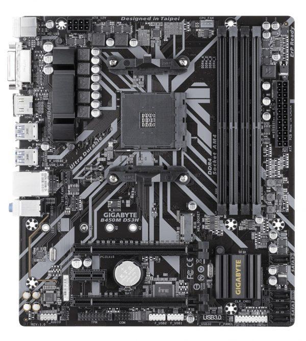 Gigabyte B450M DS3H Socket AM4 - купить в интернет-магазине Анклав