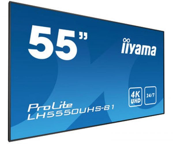 """Iiyama 55"""" LH5550UHS-B1 AMVA3 Black - купить в интернет-магазине Анклав"""