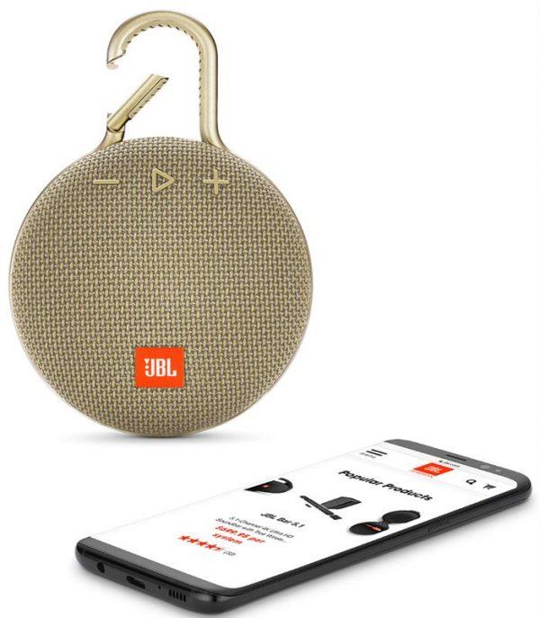 Акустическая система JBL Clip 3 Sand (JBLCLIP3SAND) - купить в интернет-магазине Анклав