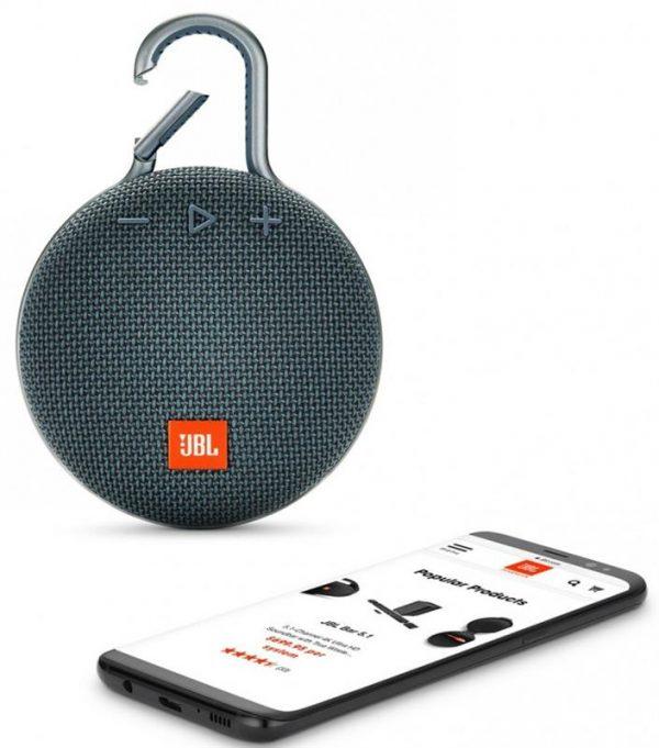Акустическая система JBL Clip 3 Ocean Blue (JBLCLIP3BLU) - купить в интернет-магазине Анклав