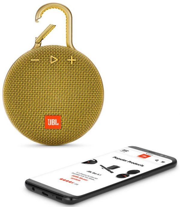 Акустическая система JBL Clip 3 Mustard Yellow (JBLCLIP3YEL) - купить в интернет-магазине Анклав